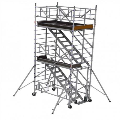 TE - Echafaudage en aluminium avec escaliers d'accès