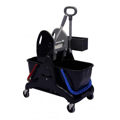 E 274170 CHAR - TRISTAR - Chariot de lavage - 2X15L avec bac produit + presse ST