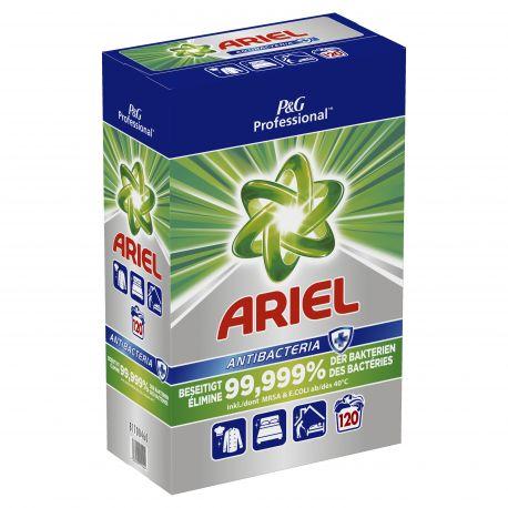 Lessive poudre désinfectante Antibacteria Ariel-baril de 120 doses