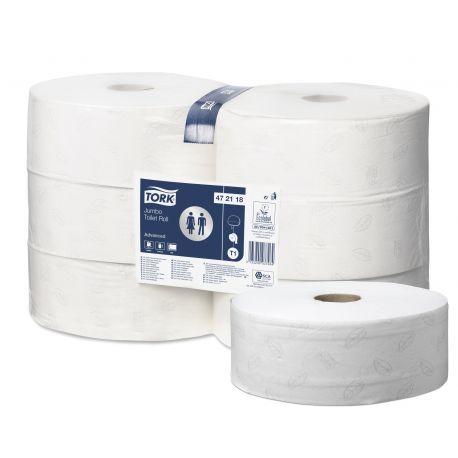 Papier toilette maxi Jumbo Ecolabel 2 plis Advanced Tork 180 m Tork T2-6 bobines de 380 m