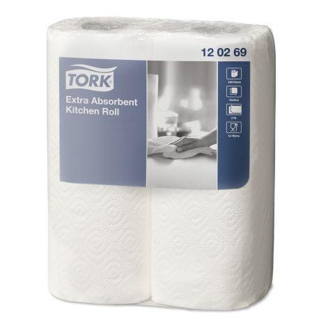 Essuie-tout 2 plis Tork-24 rouleaux de 64 formats