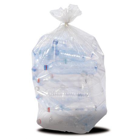 Sac poubelle transparent 110 L lien classique 37 microns-carton de 200