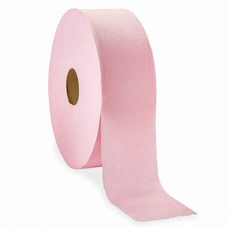 Papier toilette maxi jumbo rose 1 pli - 6 bobines de 600 m