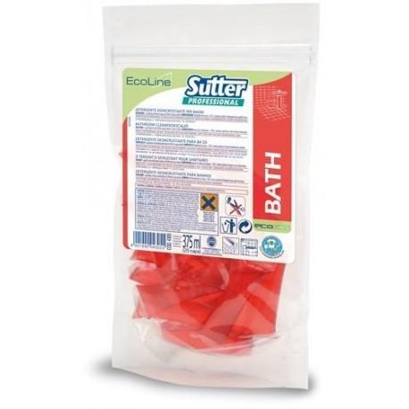 BATH CAPS - 25 X 15ml - Détergent anticalcaire salles de bains et sanitaires