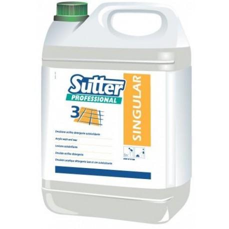 SINGULAR - 5L - Emulsion acrylique détergente autolustrante cirante