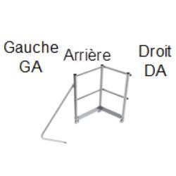 GAOUDA - Rampe droite ou gauche avec renfort arrière pour estrade ES