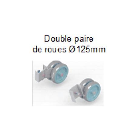 RES125 - Double paire de roue pour estrade ES