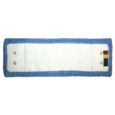 E 270613FRAN - Frange 40cm à poches-languettes, BLEUE, microfibre