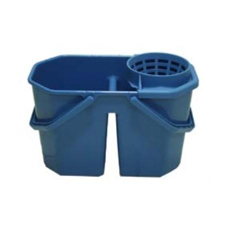 E 271101SEAU - Seau Eco 15 litres bleu avec séparation